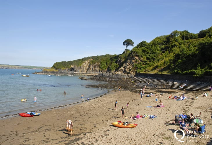 Cwm yr Eglwys is a picturesque sheltered cove popular