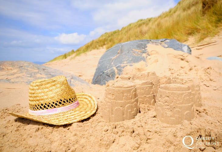 Harlech Beach, the perfect place to spend the holidays
