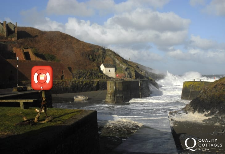 Nearby Porthgain harbour - a small sheltered little harbour wonderful at any time of the year