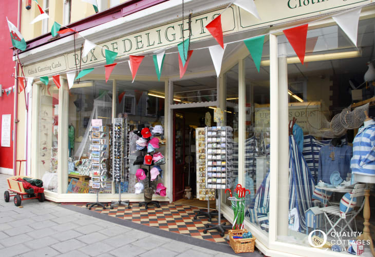 Discover lots of interesting little craft shops in which to browse away the day in Aberaeron