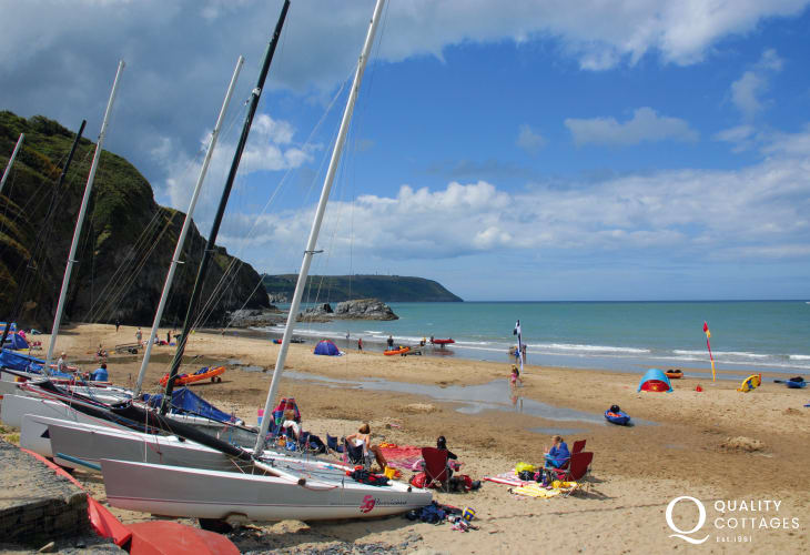 Tresaith, overlooked by the welcoming Ship Inn, is just a short drive along the coast