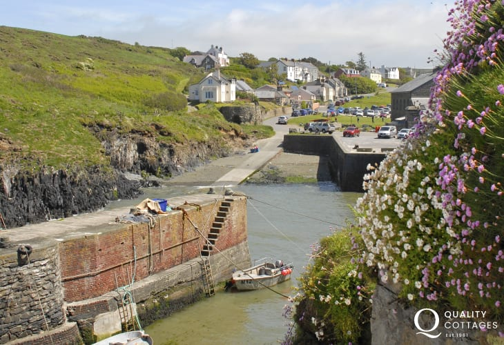 Porthgain is a tiny harbour village with an excellent pub, art galleries and a cafe restaurant