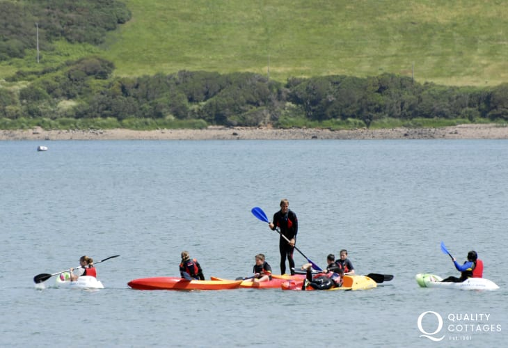 Kayaking is great fun for all ages - a full hire service is available down on the Harbour Beach (Blue Flag)