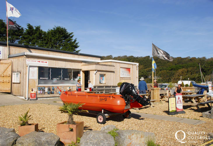 The Boat House Cafe in Dale offers daily provisions and good home cooking with friendly service