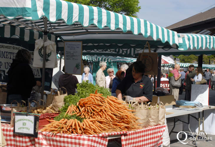 Do visit Haverfordwest's award winning weekly farmer's market for plenty of local Pembrokeshire produce on offer