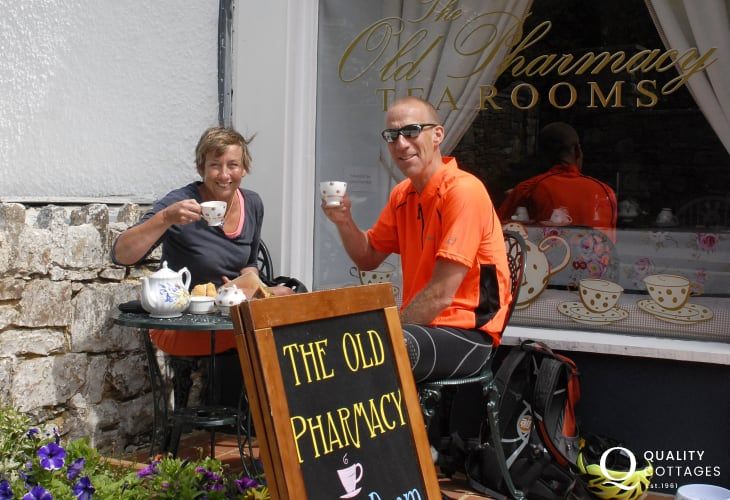 Afternoon tea at The Old Pharmacy Solva is a must - a beautiful tea room in the village and dog friendly too