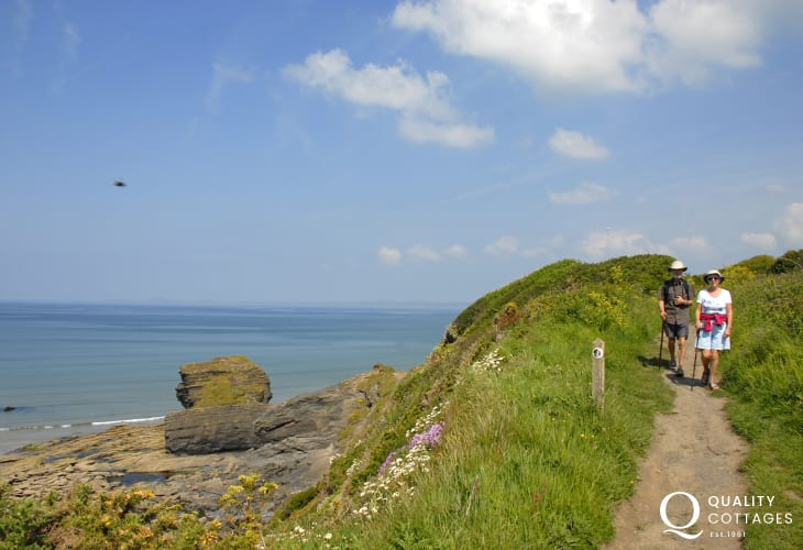 The Pembrokeshire Coast Path nearby offers fabulous cliff-top walking with a wealth of fantastic wildlife, flora and fauna