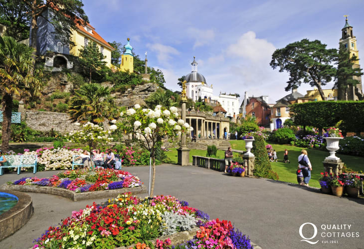 Portmeirion, the Italianate seaside town, is a must visit whilst on holiday