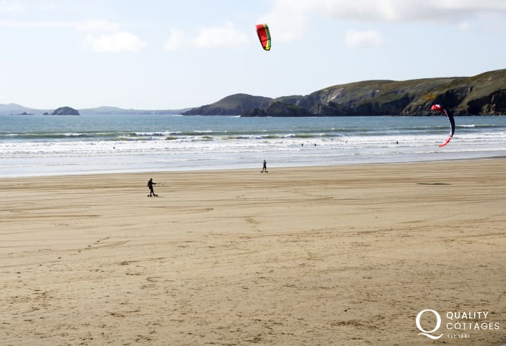 Newgale beach - a magnet for sea and beach sports