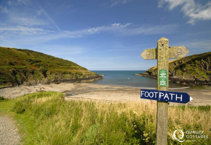 Explore the Pembrokeshire Coast Path with sandy beaches, hidden coves and small harbours