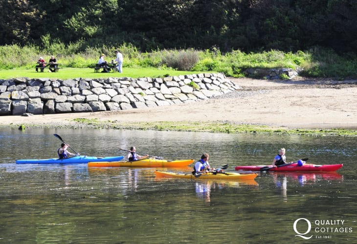Try your hand at kayaking or learning to sail with Solva Sail Boats