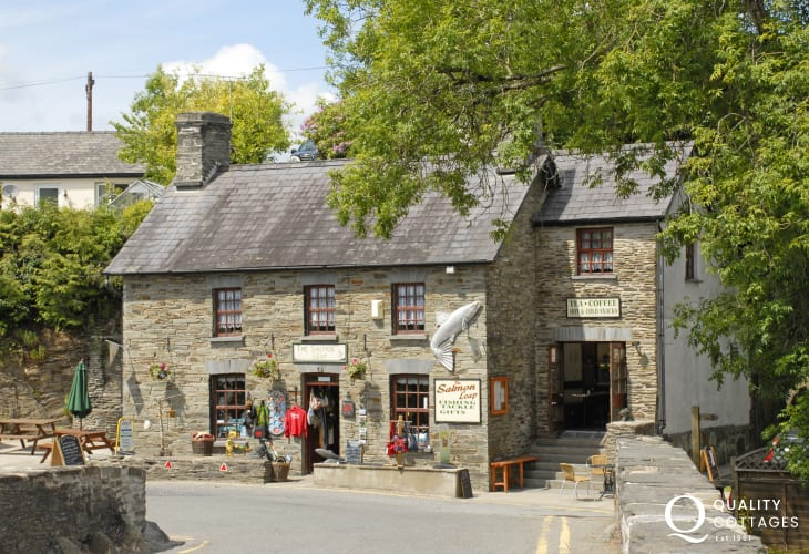 Cenarth- famous for fishing and the Teifi River Falls, where the Salmon leap upstream in the autumn