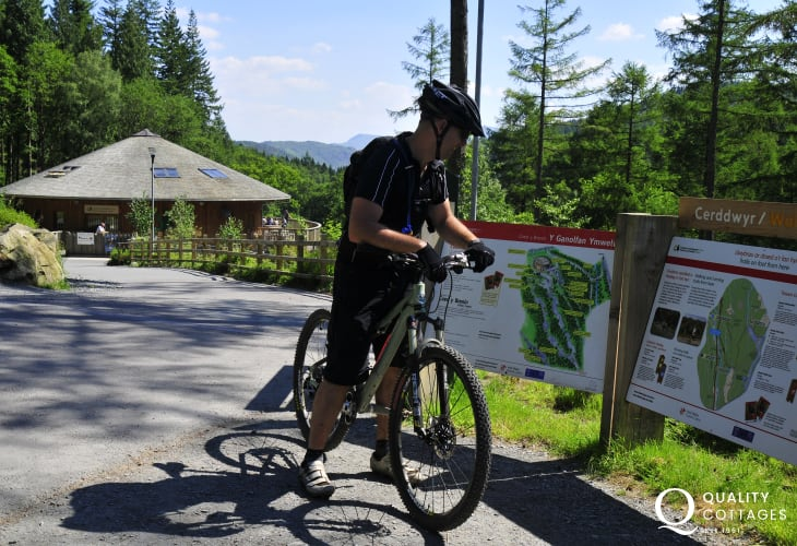 This area attracts mountain bikers in large numbers. The Holey Bike trail is known nation-wide and can be accessed from the end of the driveway at Pandy Bach