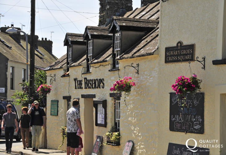The Bishops in St Davids is a real locals 'Olde Worlde' pub - fresh fish, ever changing daily specials and open all year round
