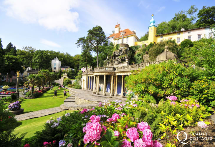 Portmeirion village, just a few miles from Criccieth, an unforgettable experience for all the family, not to be missed