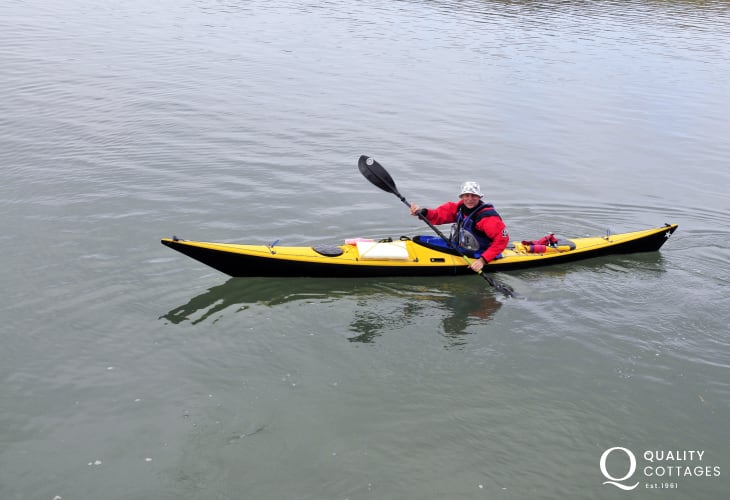 All-weather activity - kayaking solo or with a friend