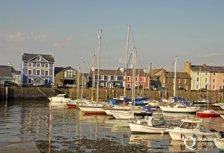 Aberaeron 16 miles from Tresaith on the Cardigan Bay Coast is a lovely Georgian resort with a range of small, interesting shops, craft centres, pubs and award winning Harbourmaster Restaurant which overlooks the quayside