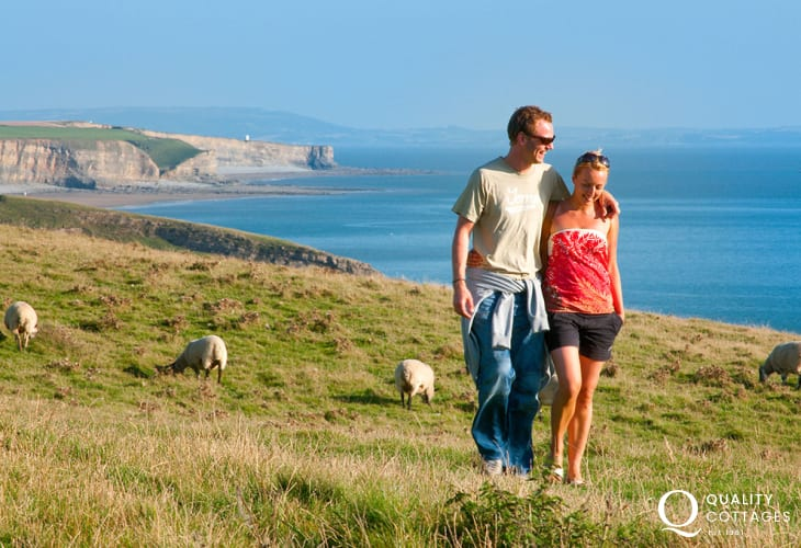 Fabulous cliff-top walking along the Glamorgan Heritage Coast at Southerndown.