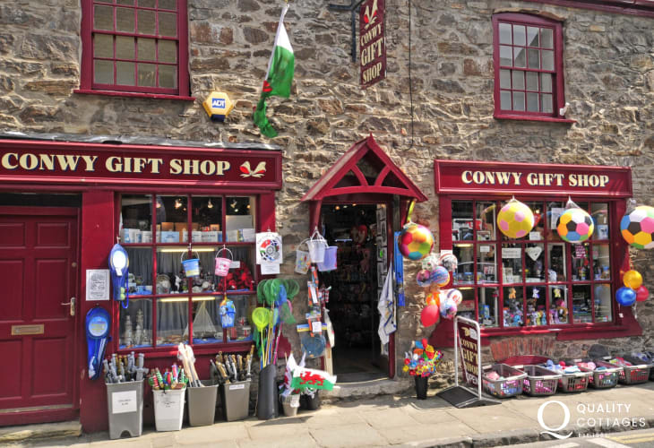 Pretty Conwy with plenty of shops and cafes