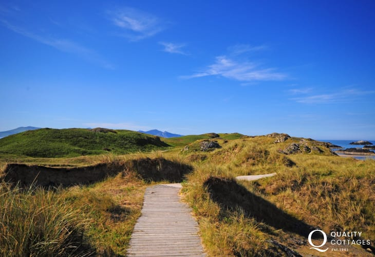 Newborough Warren forest and beach walks Anglesey