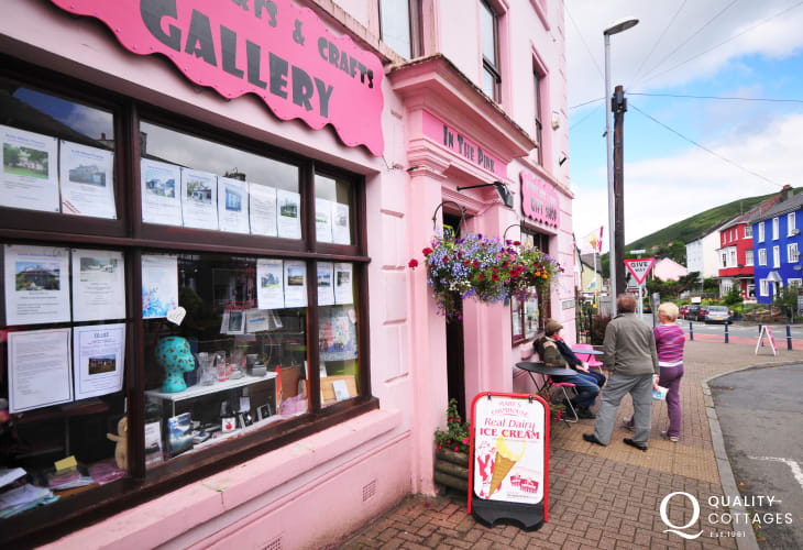Llanwrtyd Wells gallery and shops 1.5 miles away