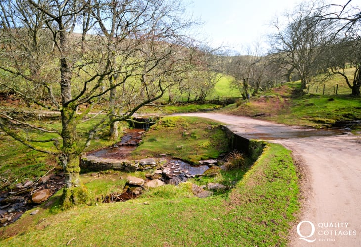 The Gospel Pass cuts its way across Hay Bluff to Capel y Ffin just minutes from the house