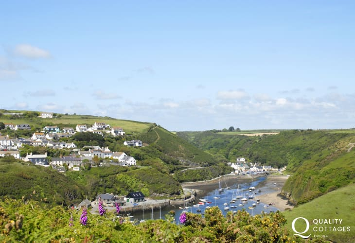 Solva, a picturesque harbour village with a variety of small craft shops, galleries, cafes, restaurants and pubs