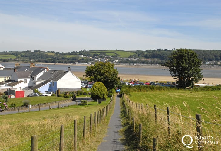 The beach at Llansteffan is a short stroll down through the village