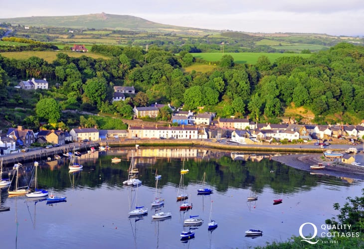 The harbour - Lower Town Fishguard is the estuary of the river Gwaun which flows through one of the most beautiful, undiscovered valleys in Britain