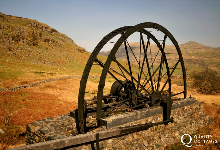 High above Cwm Pennant are the remains of Cwm Ciprwth copper mine, restored by mining enthusiasts as a monument to those who laboured in such a remote place