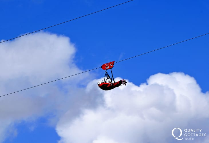 Take a zip wire ride at Zip World Velocity, Snowdonia