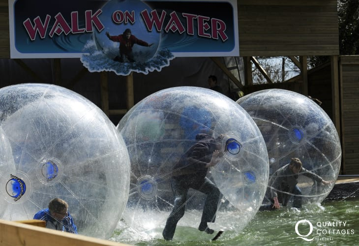 'Walk on Water' at Heatherton Activity Park - great family days out in Pembrokeshire