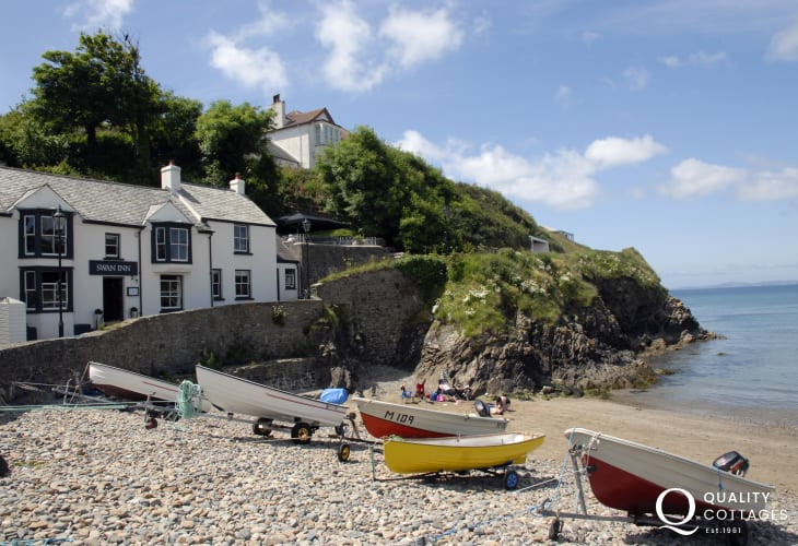 Little Haven is one of the destinations visited by St Brides Bay Water Taxi