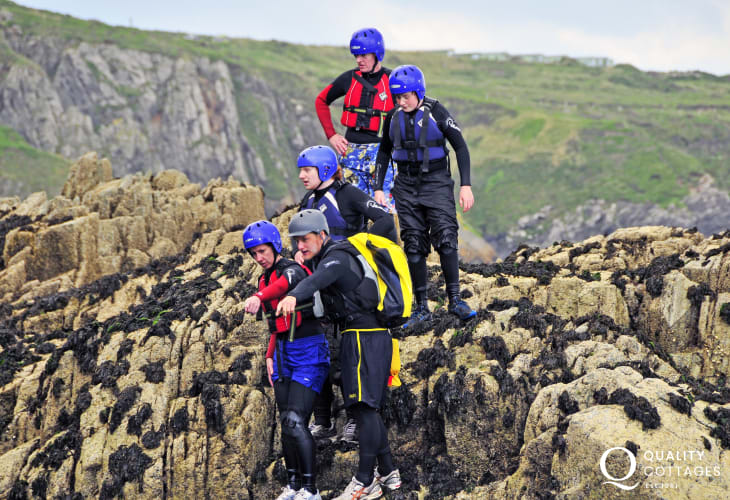 Celtic Quest Coasteering offer an exhilarating and unique way to explore the magnificent Pembrokeshire coastline