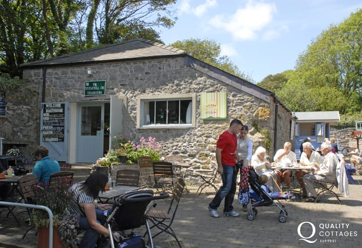 Try the Boathouse Tearooms Stackpole Quay (N.T) for mouth watering snacks and homemade cakes beside the tiny harbour