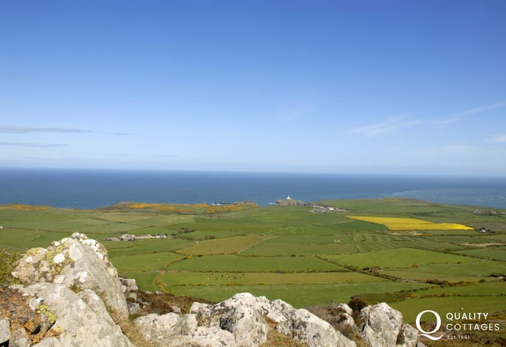 Garn Fawr - the views down across the headland are breathtaking