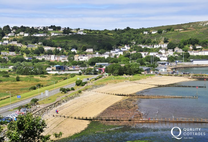 Parrog Beach, Goodwick is a sheltered sandy foreshore with excellent water-sports