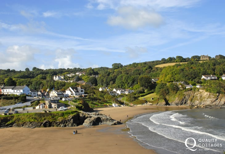 Aberporth has two golden sandy Blue Flag beaches to choose from