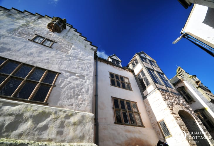 The Elizabethan house, Plas Mawr, just off the high street in Conwy town centre