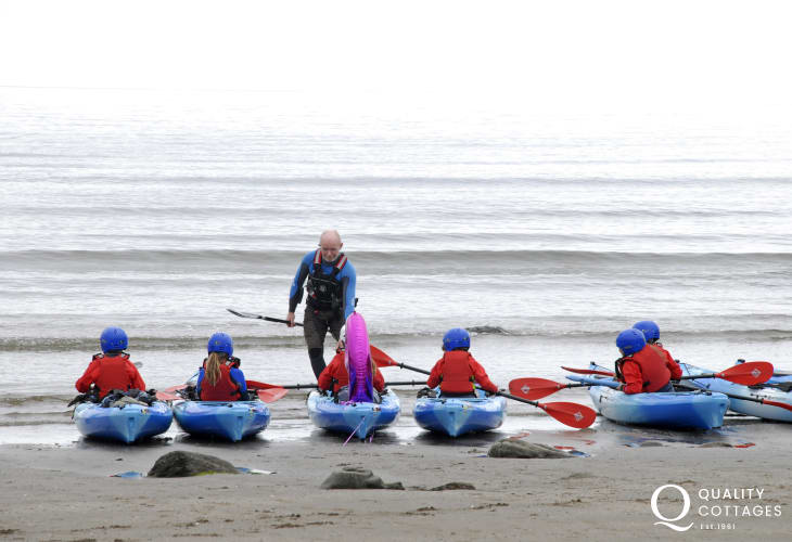 TYF Adventure Centre in St Davids offer a wide range of activities including rock climbing, coasteering, sailing, bike hire and sea kayaking