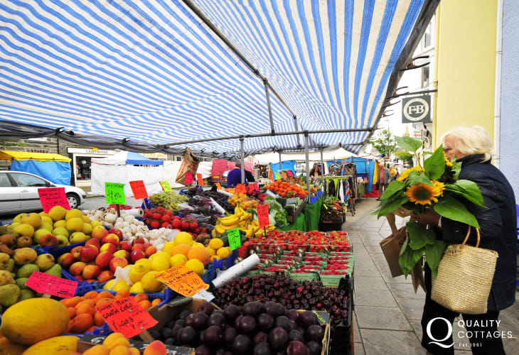 Loads of fresh, high quality produce at Machynlleth market