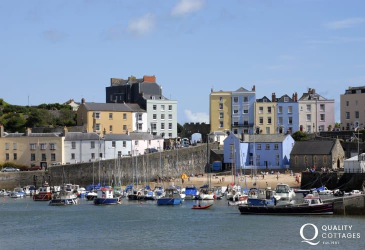 Explore Tenby's picturesque harbour, Blue Flag beaches and quaint cobbled streets or enjoy a boat trip to Caldey Island with a magic all of its own