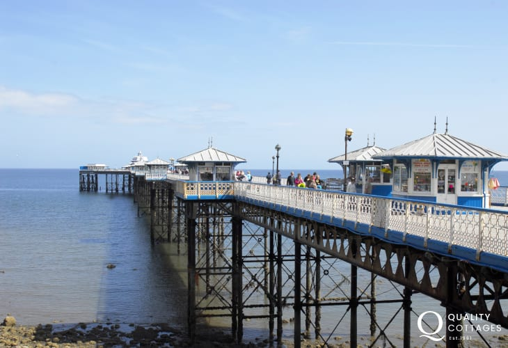 The pier in Llandudno with its cafe`s and games rooms