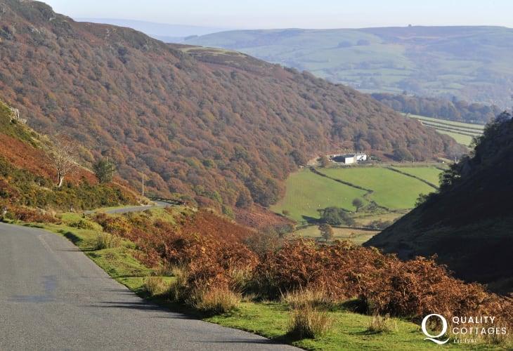 Motoring between Rhayader and Aberystwyth is a joy