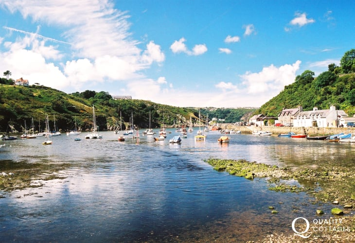 The pretty harbour at Lower Town, Fishguard