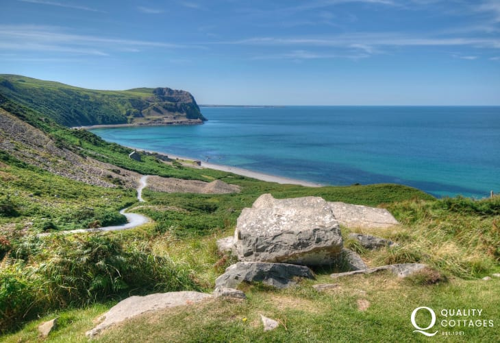 Nant Gwrtheyrn Welsh language centre with cafe and heritage centre a short drive from Nefyn