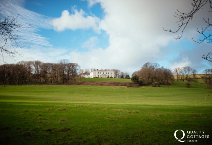 Llansteffan Mansion house is a contemporary restaurant set in the main house serving up the best of fresh local produce