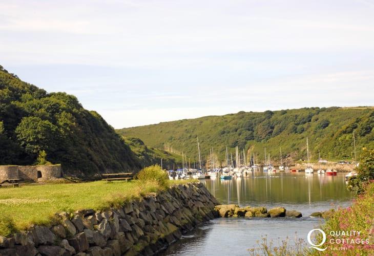 Solva - picturesque coastal village and quay alongside a fiord like estuary