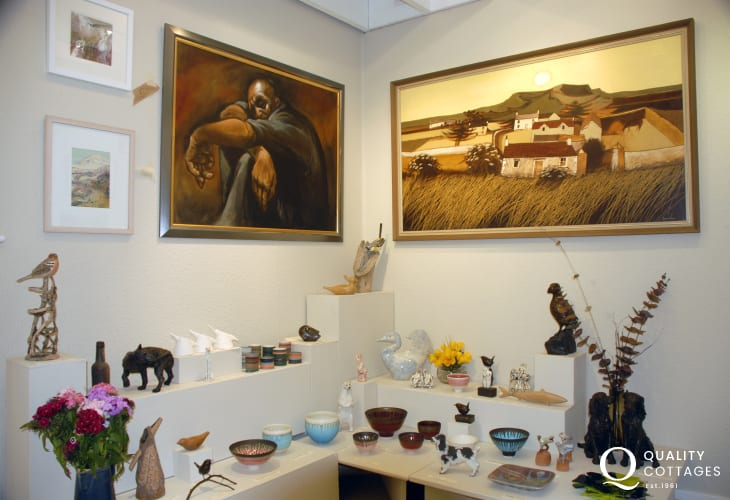 Do visit one of Pembrokeshire's fine galleries in the Fishguard area for both local and international art works
