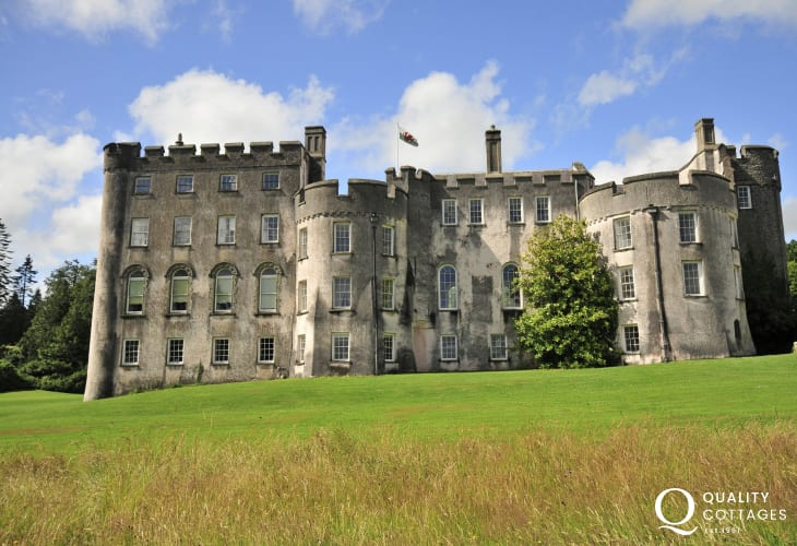 Picton Castle set in 40 acres of magnificent woodland and walled gardens